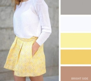 A yellow and white combination
