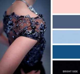 An elegant dark blue combo