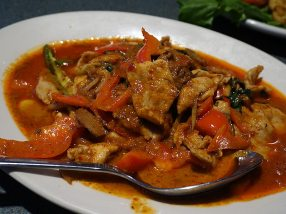 Thick curry with pork