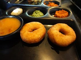 Lovely vadas along with more of those incredible chutneys. The sambhar was not half bad either.