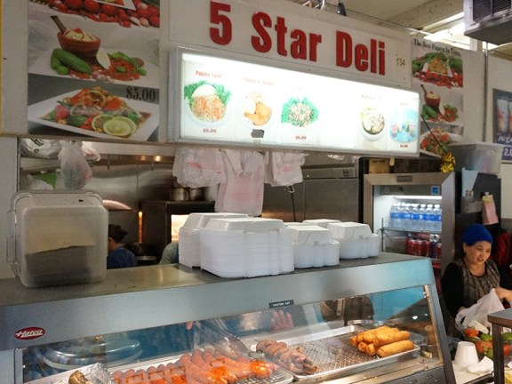 Thence to 5 Star Deli...
