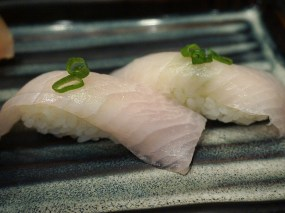 The texture of the kanpachi/amberjack was a little tougher than it should be and it was also sans flavour.