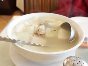 Very nice mild broth. The boys loved it, and the adults enjoyed it as well.