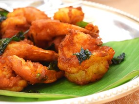 These prawns were lightly spiced and fried to crispy perfection. I suspect a light coating of rice flour may have been applied. Very nice.