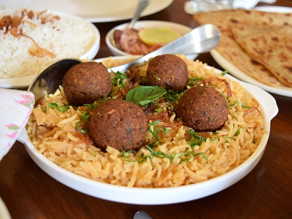 Rustom's: Dhansak Rice and Kababs