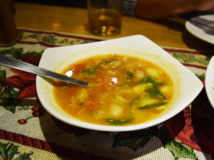 """This fish """"curry"""" was really very good. Slightly sour, with a nice texture from the rice starch and the dried fish notes were very reminiscent of some Korean stews."""