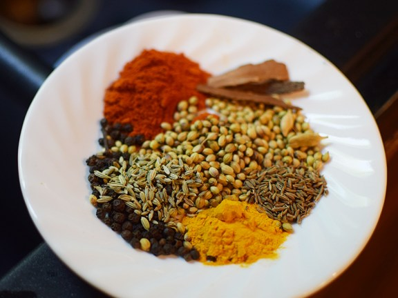The spices for the meatballs