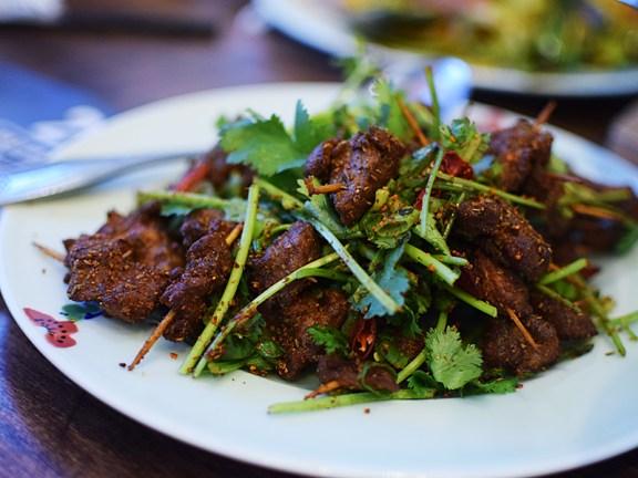 Szechuan Impression: Lamb on Toothpicks