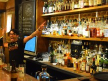 A friendly bartender (the other ducked under the bar). They operate another, separate bar in the basement, but I did not go down there.
