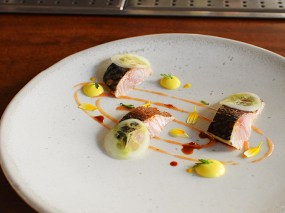 The Clove Club: Flamed Cornish Mackerel