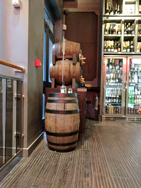 If it weren't for all the casks lying around you might not notice it's a whisky store.