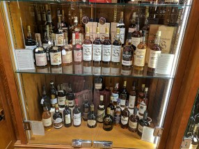 There were also shelves with older Bowmores, Taliskers, Longmorns etc.