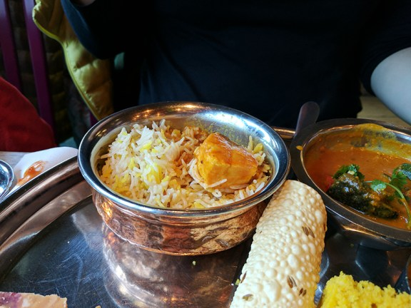 The fish curry was quite nice too.