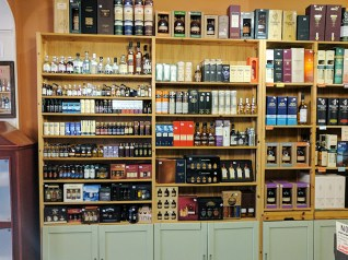 Their Scotch selection includes a lot of minis and small bottles.