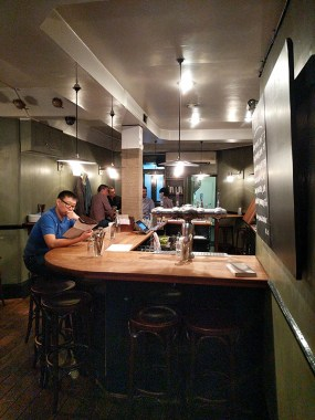 The bar is really the primary seating in the main dining room.