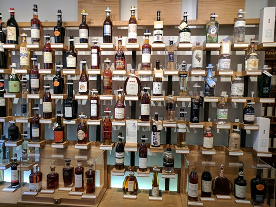 A lot more brandy and other spirits on that wall.