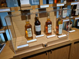 There are also a few small, locked cases of expensive bottles, but that's not their focus.