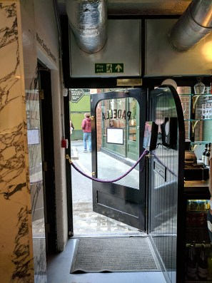 This door leads to the Borough Market.