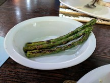 ...our server rushed it over; apparently, she'd picked up the plate before it was finished.