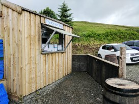 The Oyster Shed: The shack outside where the hot food is prepared and served