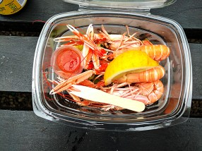 The Oyster Shed: Steamed langoustines