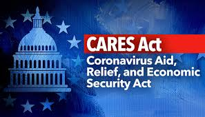 Cares Act Image with White House in Back Ground