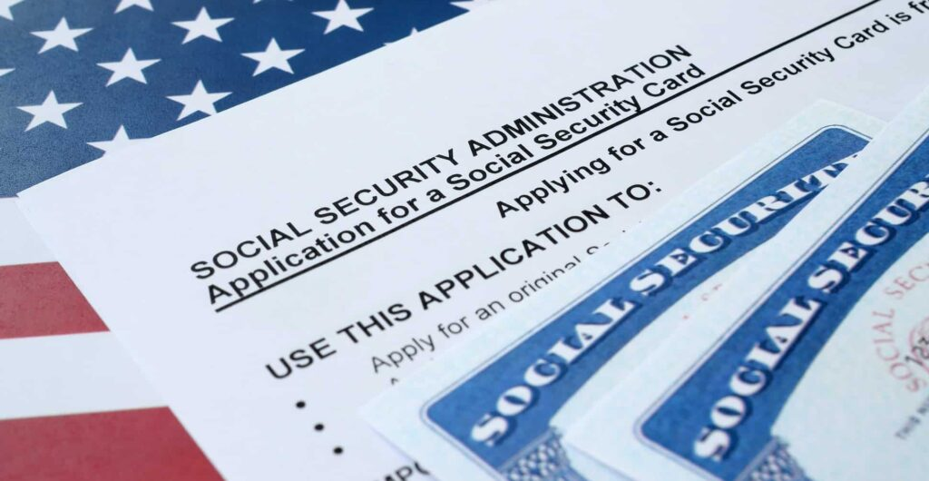 United states social security number cards lies on application from social security administration