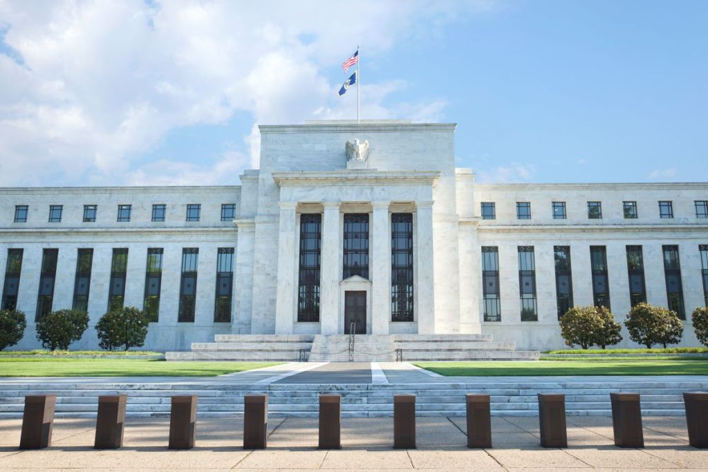 The-us-federal-reserve-building-in-washington-dc