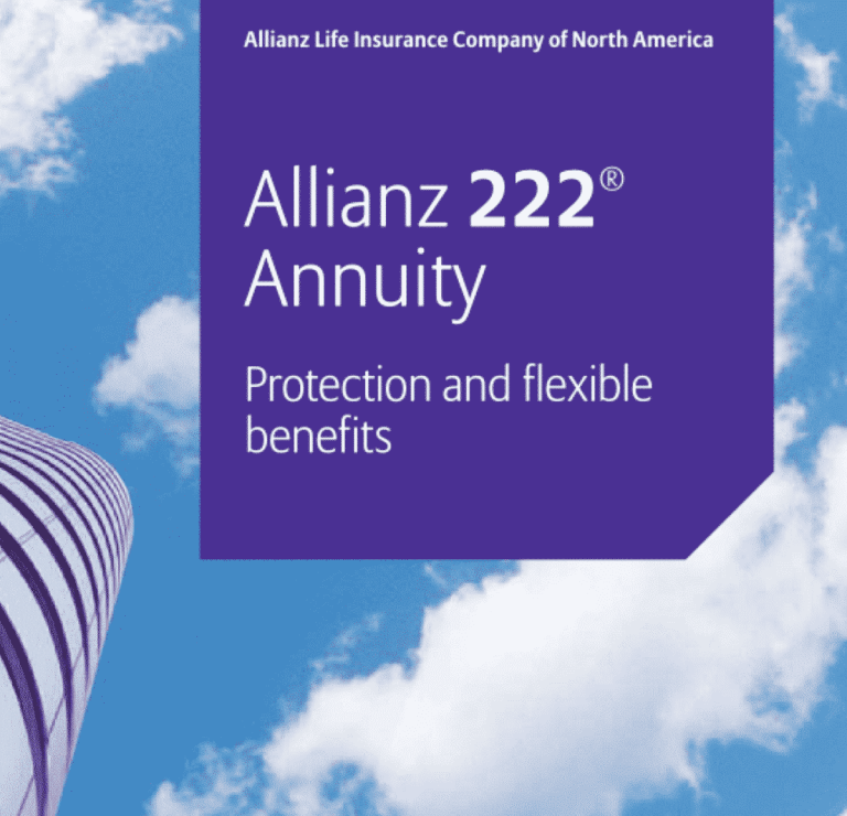 Allianz 222 brochure cover: featured image of allianz 222 review by my annuity store, inc.
