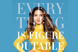 book cover of Everything is Figureoutable with text in front of author Marie Forle
