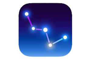 SkyGuide logo - blue gradient background with stylized illustration of Little Dipper constellation