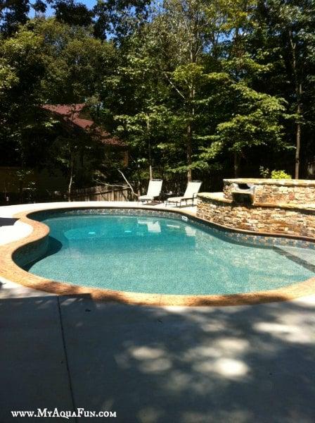 Beautiful new swimming pool built by Aqua Fun Inc. of Canton, GA.