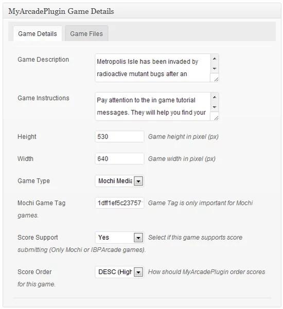 edit game details