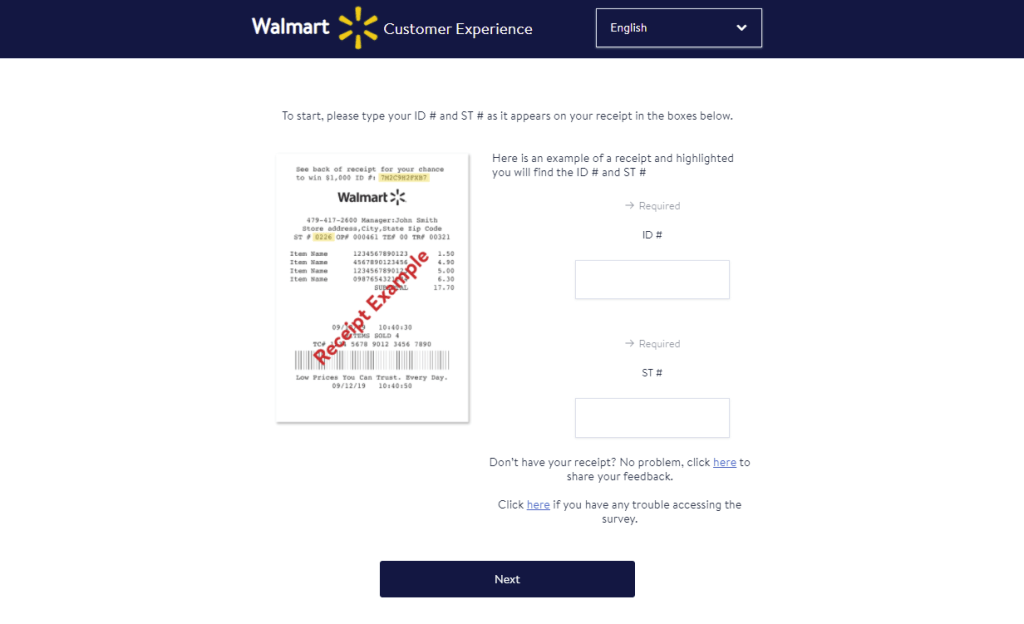 www.survey.walmart.com - Walmart Store Satisfaction Survey