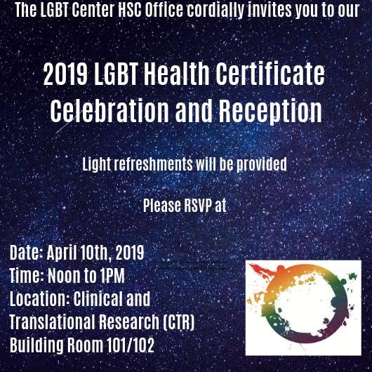 2019 Lgbt Health Certificate Celebration Reception