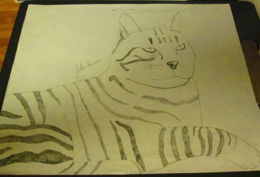 Drawing Stripey Cat