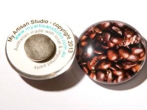 Coffee Bean Fridge Magnet Hand Made Gifts Ballarat
