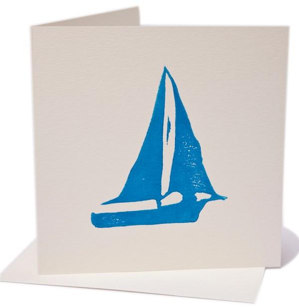 Boat blank greeting card Hand Made Gifts Ballarat