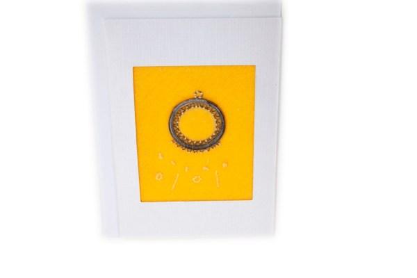 Yellow Felt Greeting Card Hand Made Gifts Ballarat