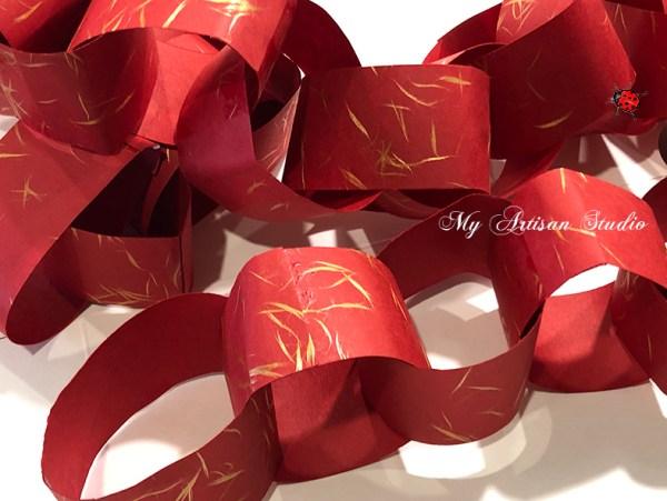 Red Paper Chain Hand Made Gifts Ballarat