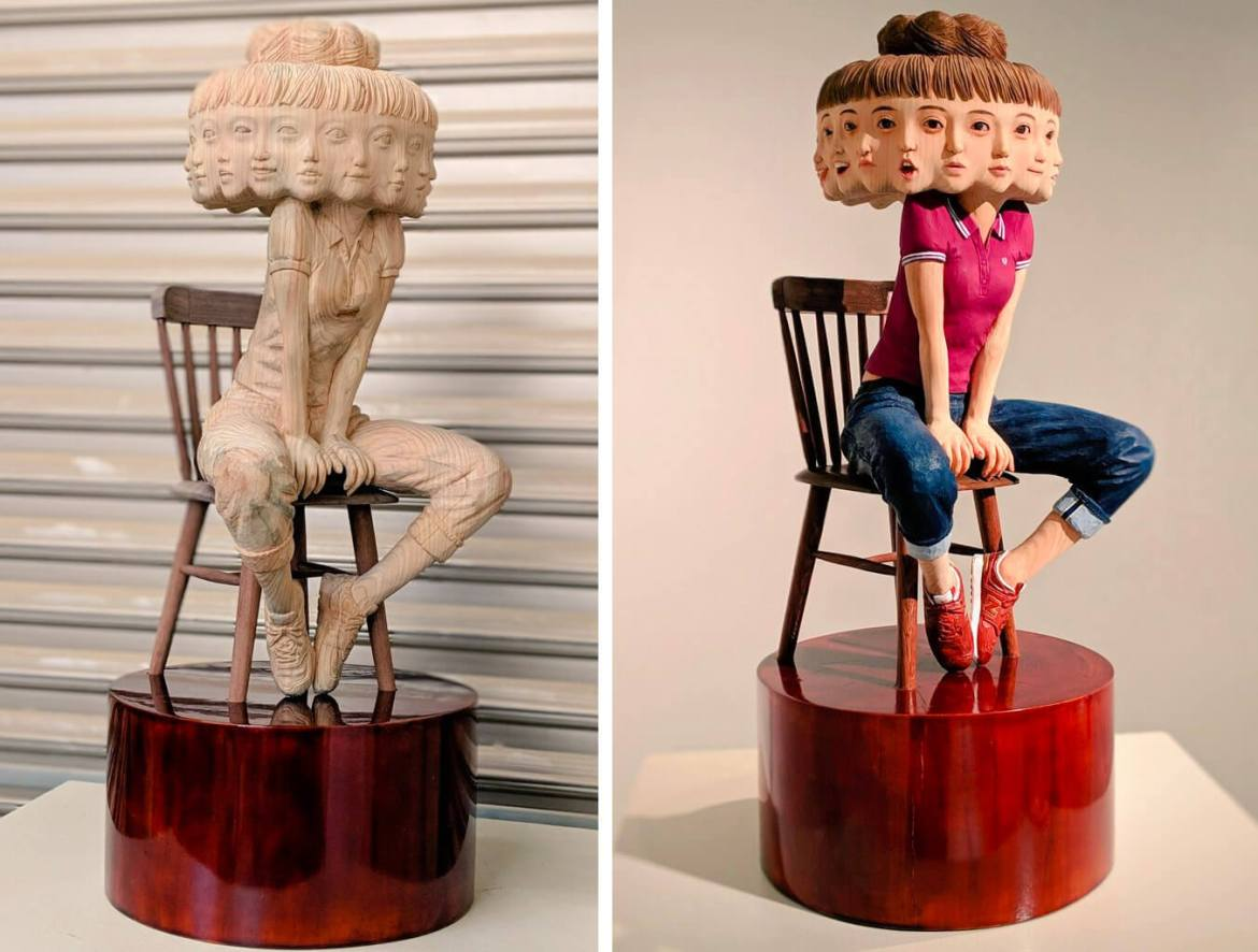 emotions presented in sculpture