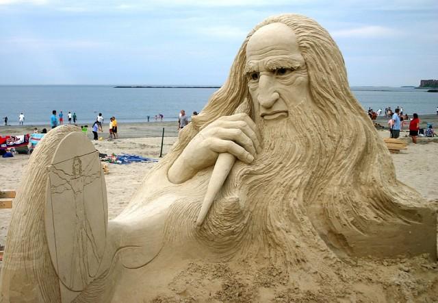 1. Beautiful Sand Sculpture