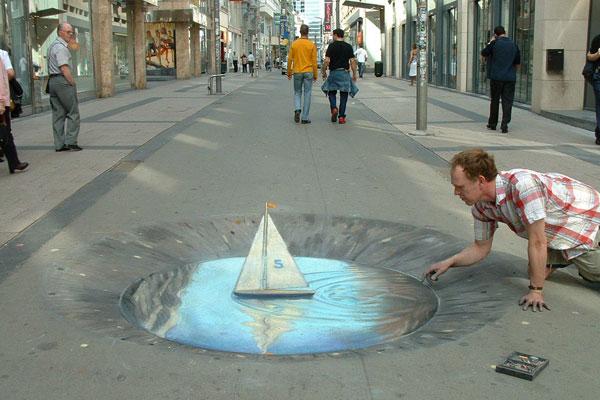 10. Incredible 3d anamorphic illusions Julian Beever