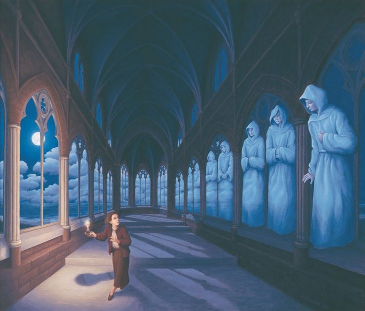 11. Rob Gonsalves Optical Illusion Painting
