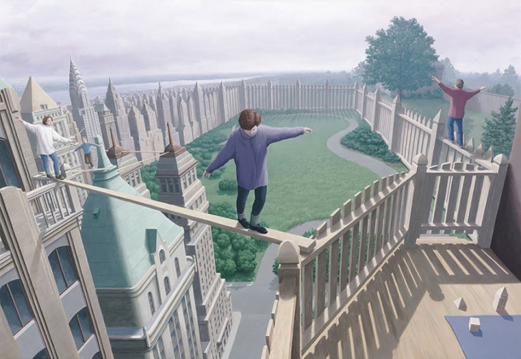 17. Rob Gonsalves Optical Illusion Painting