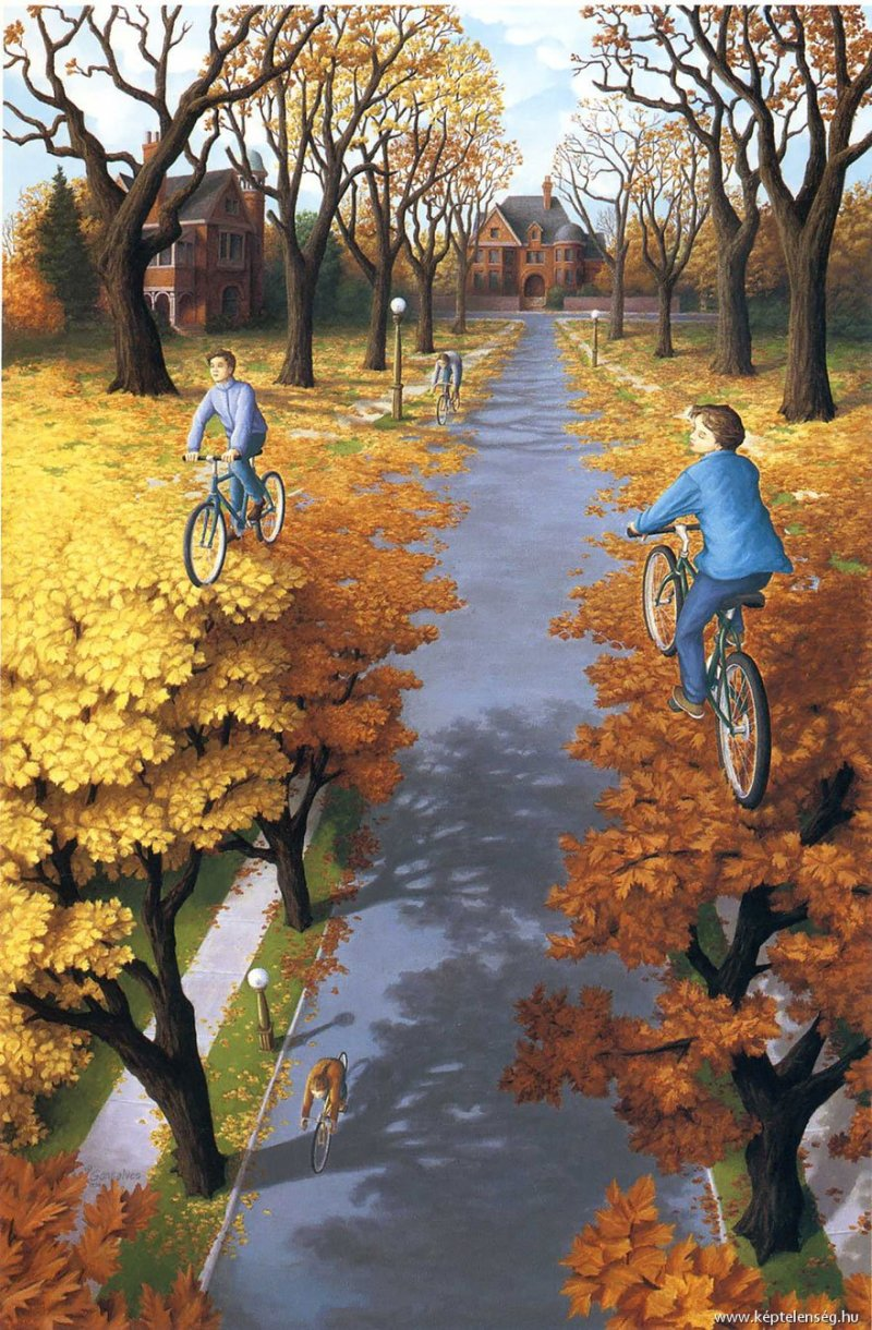 2. Rob Gonsalves Optical Illusion Painting