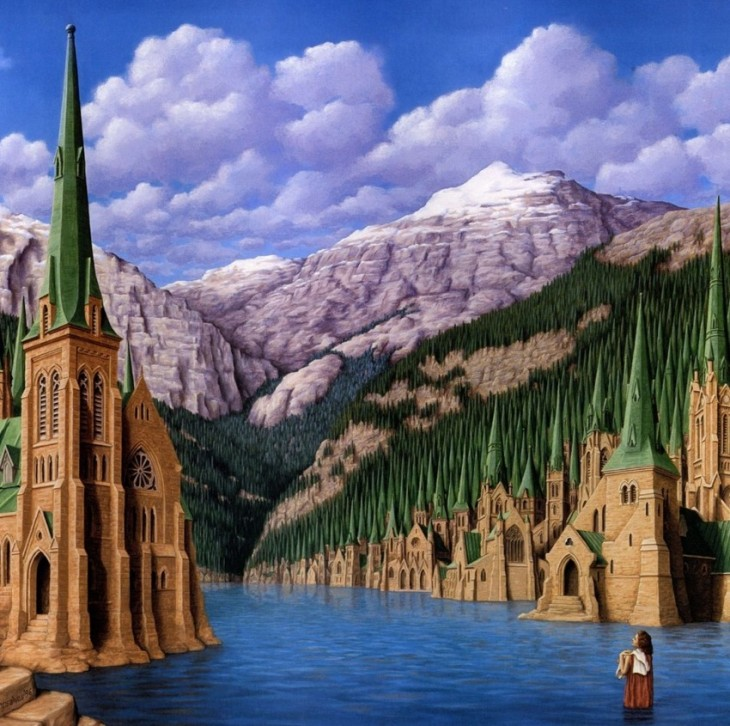 20. Rob Gonsalves Optical Illusion Painting