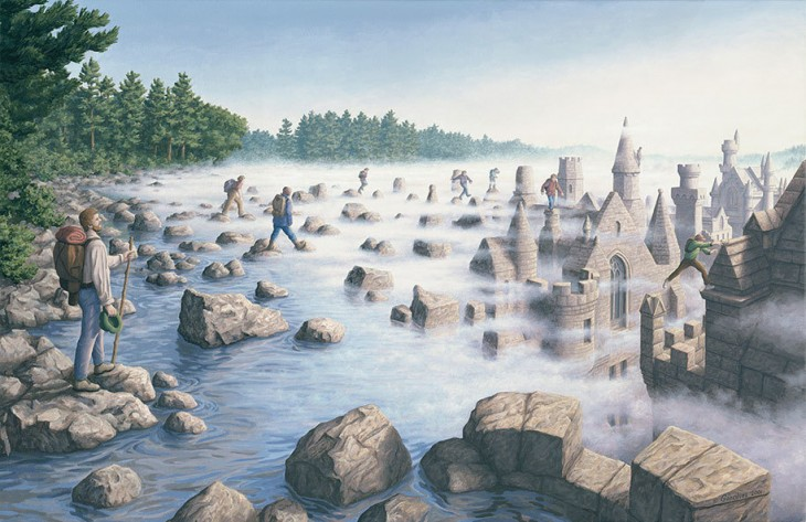21. Rob Gonsalves Optical Illusion Painting