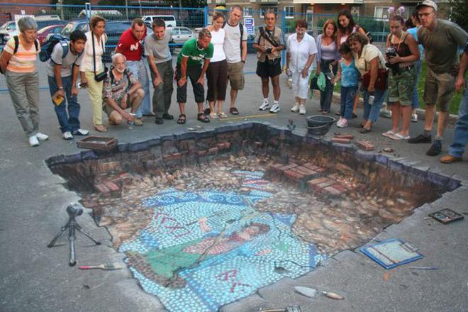 22. Incredible 3d anamorphic illusions Julian Beever