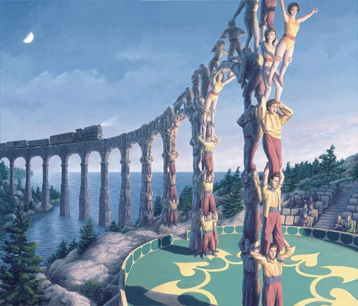 23. Rob Gonsalves Optical Illusion Painting
